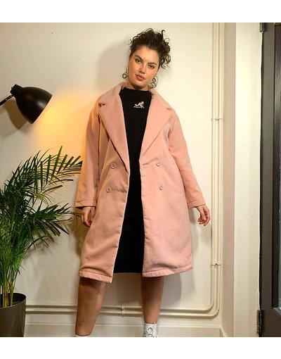 Rosa donna Soprabito rosa polvere - Threadbare Curve