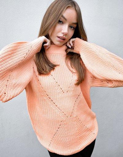 Arancione donna Maglione con motivo - Threadbare - Arancione - Ellie