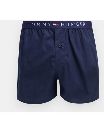 Intimo Blu navy uomo Boxer blu navy con elastico in vita a contrasto - Tommy Hilfiger