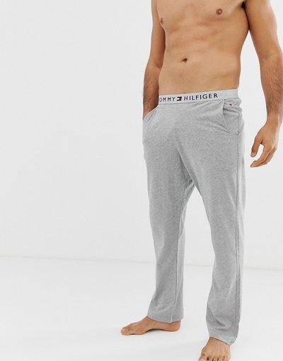 Pigiami Grigio uomo Joggers da casa grigi con elastico comfort con logo - Tommy Hilfiger - Grigio