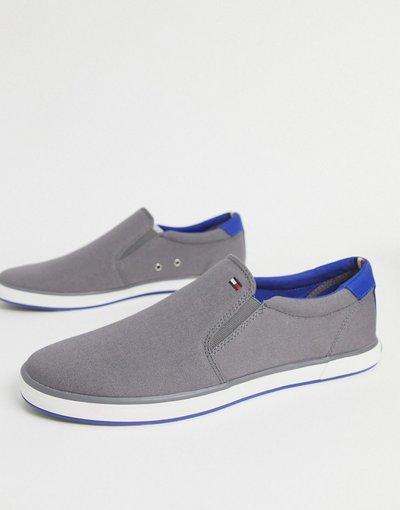 Sneackers Grigio uomo Sneakers grigie con logo - Tommy Hilfiger - Grigio