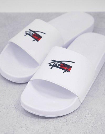 Novita Bianco uomo Sliders bianche con logo - Tommy Jeans - Bianco