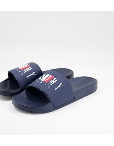 Novita Blu navy uomo Sliders con logo, colore blu navy - Tommy Jeans