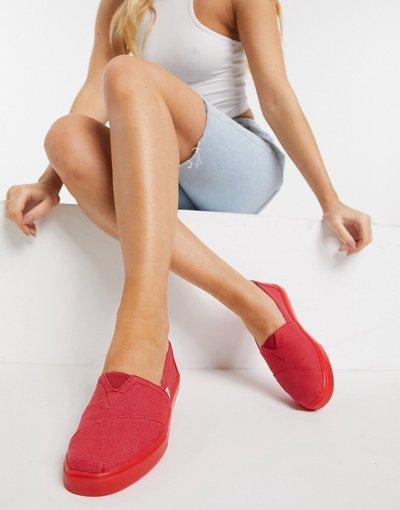 Scarpa bassa Rosso donna Espadrilles preformate rosse - Alpargata - Toms - Rosso