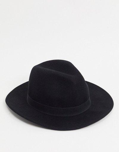 Cappello Nero uomo Fedora nero - Topman