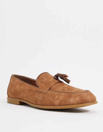Scarpa elegante Cuoio uomo Mocassini con nappe color cuoio - Topman