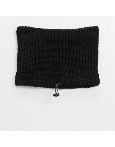 Nero uomo Scaldacollo nero lavorato a maglia - Topman