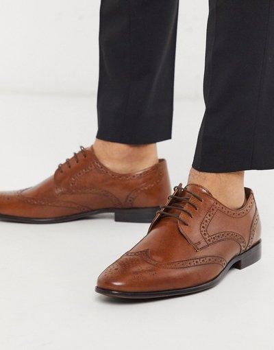 Scarpa elegante Cuoio uomo Scarpe brogue color cuoio - Topman
