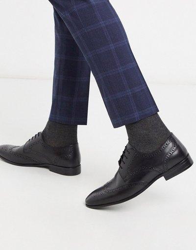 Scarpa elegante Nero uomo Scarpe brogue nere - Topman - Nero