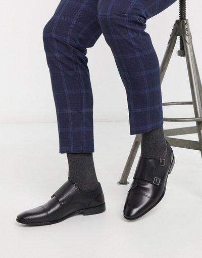Scarpa elegante Nero uomo Scarpe con fibbie nere - Topman - Nero