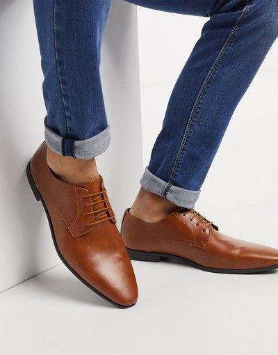 Scarpa elegante Cuoio uomo Scarpe derby color cuoio - Topman