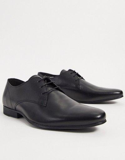 Scarpa elegante Nero uomo Scarpe derby in pelle nere - Topman - Nero