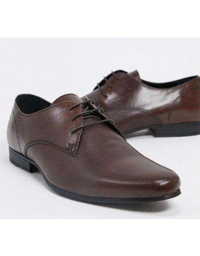 Scarpa elegante Cuoio uomo Scarpe derby in pelle nere - Topman - Cuoio