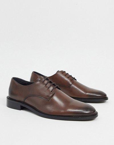 Scarpa elegante Marrone uomo Scarpe stringate marroni - Topman - Marrone