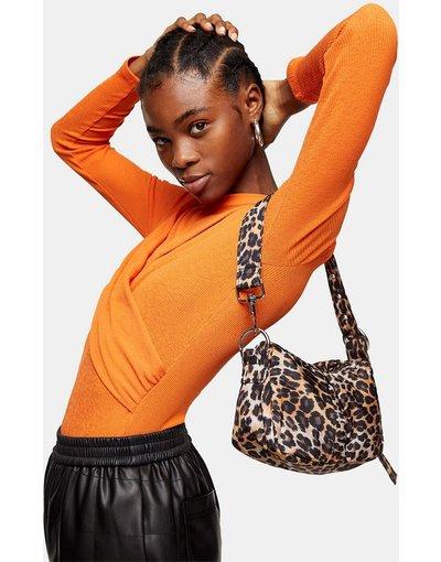 Borsa Multicolore donna Borsa da spalla piccola con stampa leopardata - Multicolore - Topshop