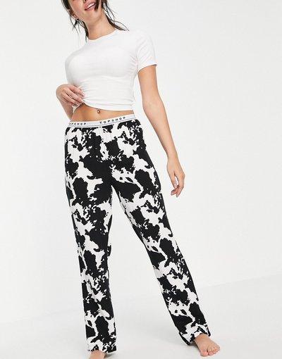 Pigiami Multicolore donna Completo pigiama con stampa pezzata nero e bianco - Multicolore - Topshop