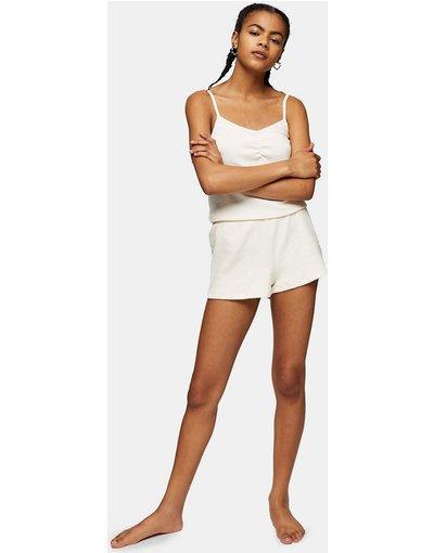 Pigiami Bianco donna Completo pigiama soffice color crema - Topshop - Bianco