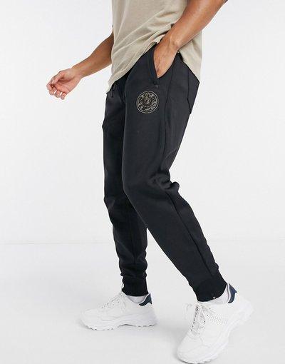 Pantalone Nero uomo Joggers firmati con logo - True Religion - Nero