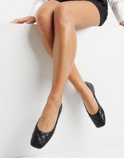 Ballerine Nero donna Ballerine trapuntate con punta squadrata nere - Truffle Collection - Nero