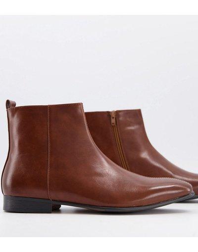 Sneackers Cuoio uomo Stivaletti classici con zip laterale, color cuoio - Truffle Collection