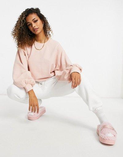 Maglione in promozione Rosa donna Maglione girocollo con maniche a palloncino, colore rosa - Brook - UGG