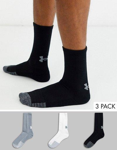 Calze Multicolore uomo Confezione da 3 calzini multi - Under Armour Training - Heat Gear - Multicolore