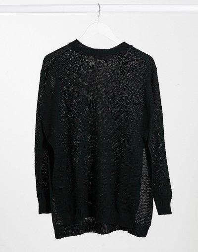 Nero donna Maglione con spacchi laterali nero - Unique21