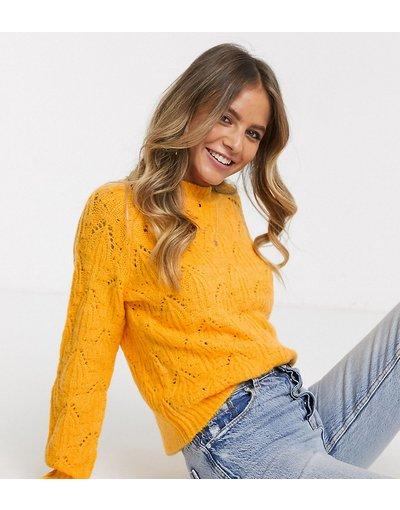 Arancione donna Maglione con collo alto - Urban Bliss - Arancione