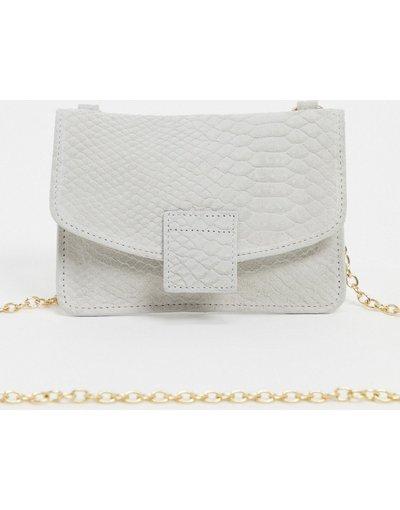Portafoglio Bianco donna Borsetta a tracolla in pelle bianca - Urbancode - Bianco