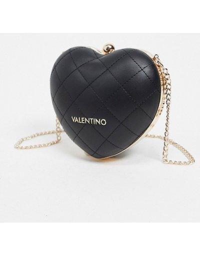 Borsa Nero donna Borsa a tracolla nera a forma di cuore trapuntato - Valentino Bags - Cataluyna - Nero