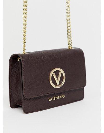 Portafoglio Marrone donna Borsa a tracolla con logo in metallo marrone - Valentino by Mario Valentino - Sax