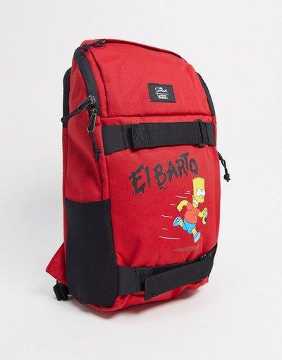 Borsa Rosso uomo Zaino da skateboard rosso - Vans X The Simpsons - El Barto Obstacle