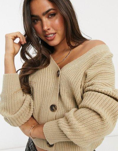 Beige donna Cardigan con maniche voluminose beige - Vero Moda