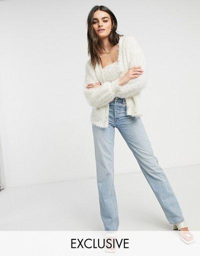 Beige donna Cardigan soffice color crema in coordinato - Esclusiva Vero Moda - Beige