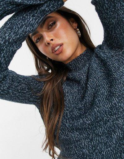 Blu donna Maglione accollato blu scuro - Vero Moda