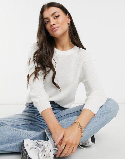 Bianco donna Maglione bianco con maniche a tre quarti - Vero Moda