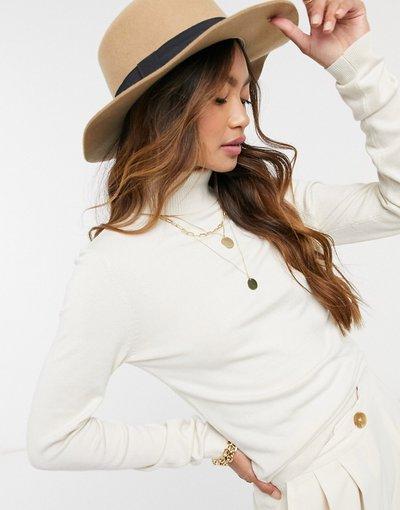 Crema donna Maglione con collo alto color crema - Vero Moda