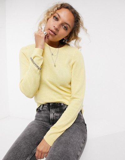 Giallo donna Maglione giallo con scollo rotondo - Vero Moda
