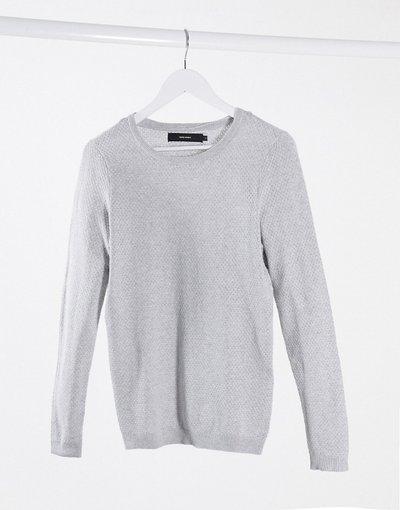 Grigio donna Maglione grigio chiaro con scollo rotondo - Vero Moda