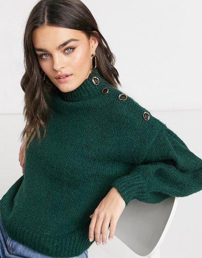 Verde donna Maglione premium verde scuro con bottoni - Vero Moda