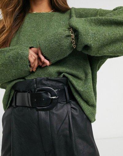 Verde donna Maglione squadrato color verde scuro - Vero Moda