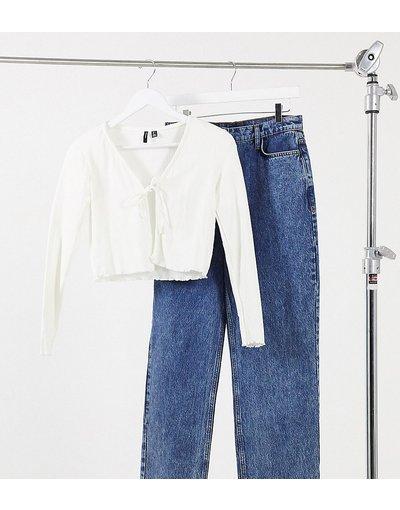 Maglione cardigan Bianco donna Cardigan bianco a costine allacciato sul davanti - Vero Moda Petite