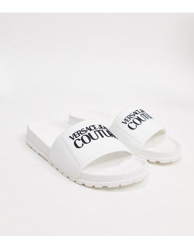 Infradito Bianco uomo Slider bianche con logo - Versace Jeans Couture - Bianco