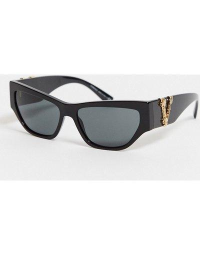 Occhiali Nero uomo Occhiali da sole cat - eye con logo OVE4383 - Versace - Nero