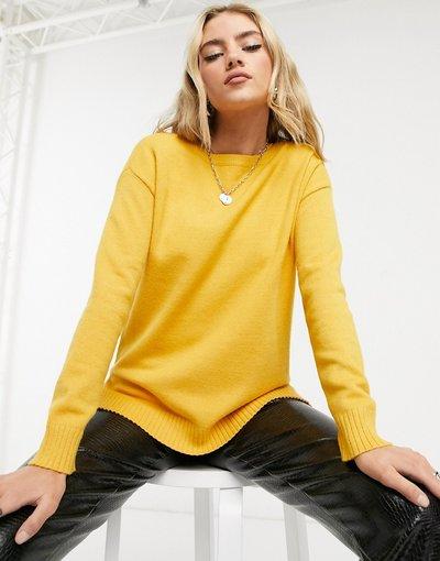 Giallo donna Maglione leggero giallo con scollo rotondo - Vila