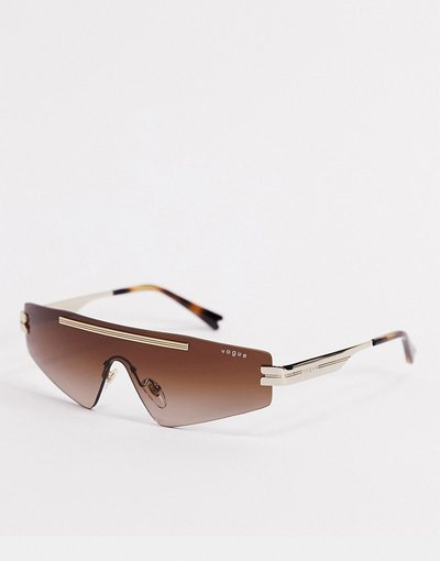 Occhiali Bianco uomo Occhiali da sole a mascherina bianchi - Vogue x Millie Bobby Brown - Bianco