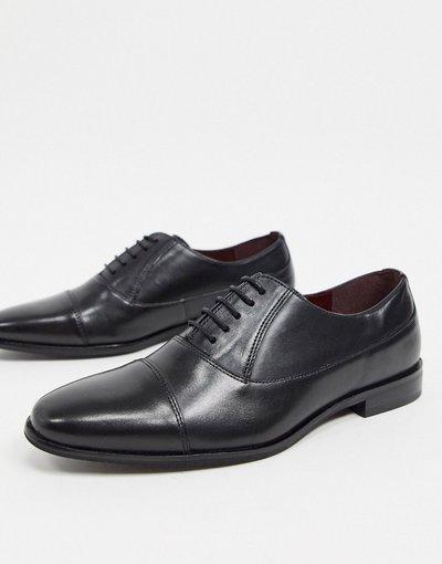 Scarpa elegante Nero uomo Scarpe a punta in pelle nera - WALK London - Alfie - Nero