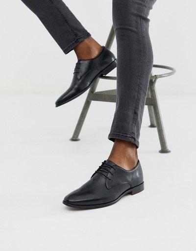 Scarpa elegante Nero uomo Scarpe derby in pelle nera - Walk London - Alfie - Nero