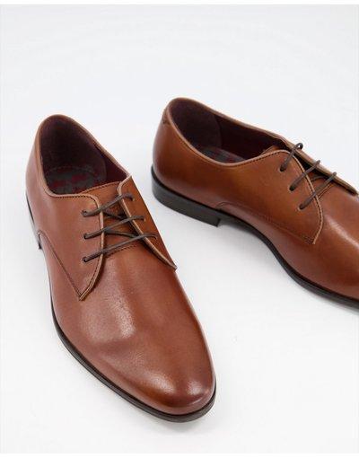 Scarpa elegante Cuoio uomo Scarpe derby stringate in pelle color cuoio - Walk London - Alfie moda abbigliamento