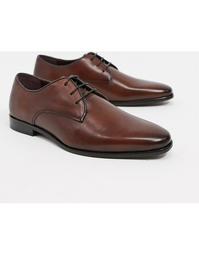 Sneackers Marrone uomo Scarpe derby stringate in pelle marrone - Walk London - Alfie